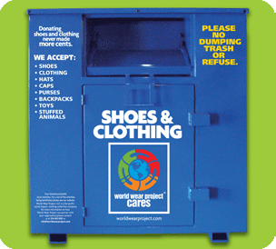 World Wear Project Clothing Recycle Bin