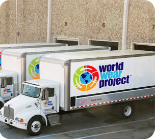 World Wear Project Trucks for Donation Pick-up
